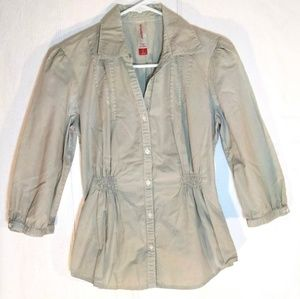S - Fitted Cotton Button-Down Therapist Shirt